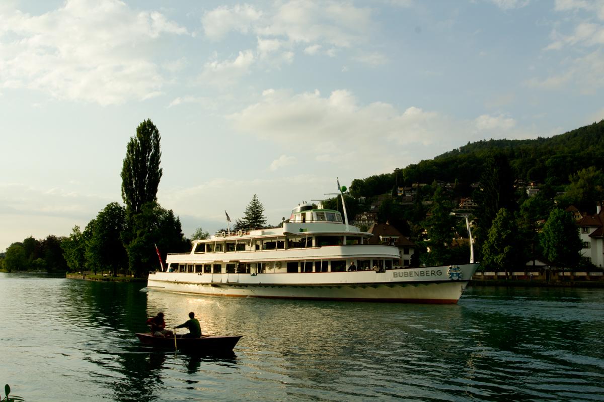 بحيرة تون Thun والمطلة على الحديقة - سويسرا