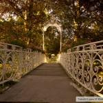 جسر فوق نهر Oos حديقة بادن بادن