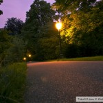 حديقة بادن بادن في المساء