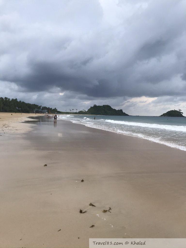 nacpan beach in palawan island