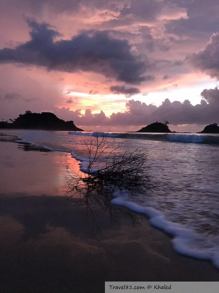 nacpan beach sunset